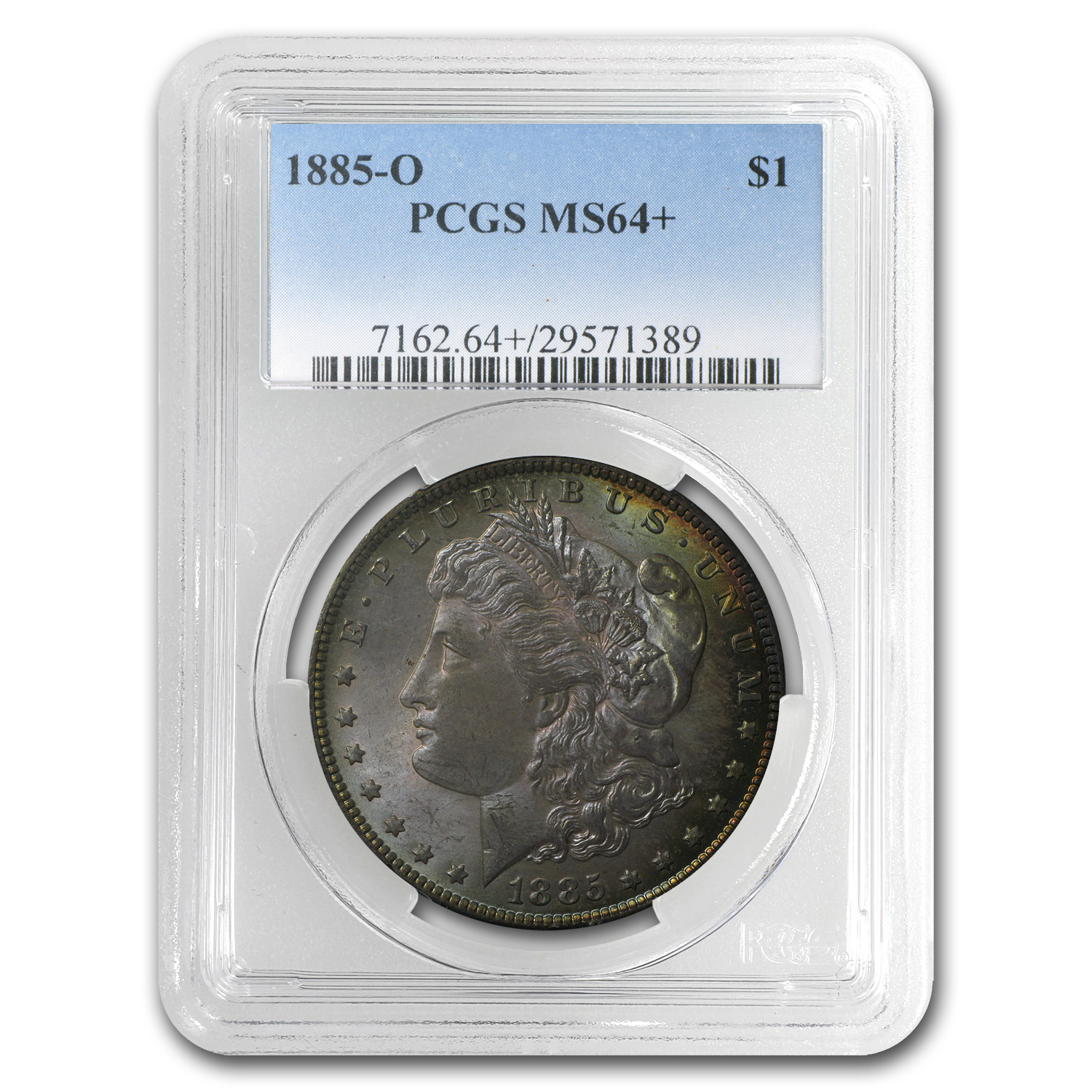 1885-O Morgan Dollar MS-64+ PCGS (Rose Tinted Toning)